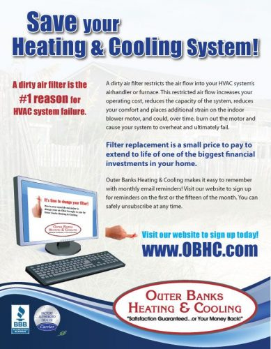 Outer Banks Heating & Cooling/Dr. Energy Saver Flyer