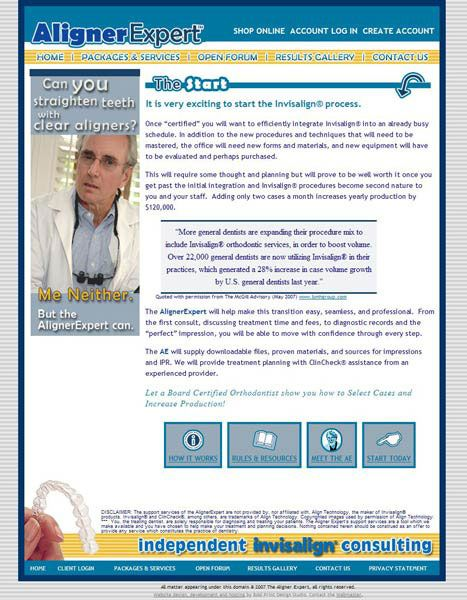 Aligner Expert Consulting Website