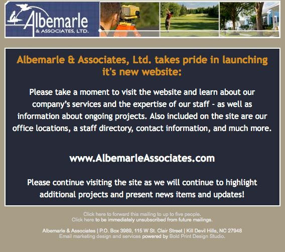Albemarle & Associates Email Campaign
