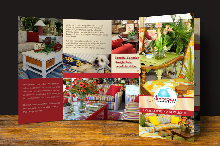 Ambrose Furniture Trifold Brochure 2010