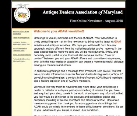 Antiques in MD Email Campaign