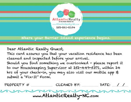 Atlantic Realty Table Tent Card