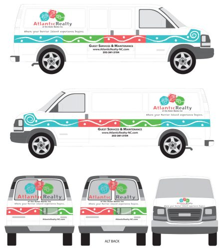 Atlantic Realty Van Graphics