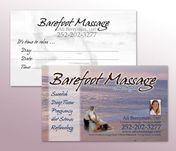 Barefoot Massage Business Cards