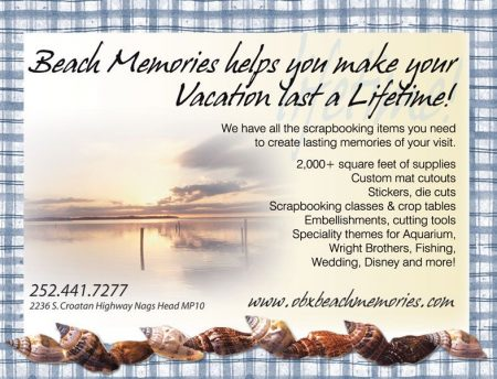 Beach Memories Scrapbooking Ad