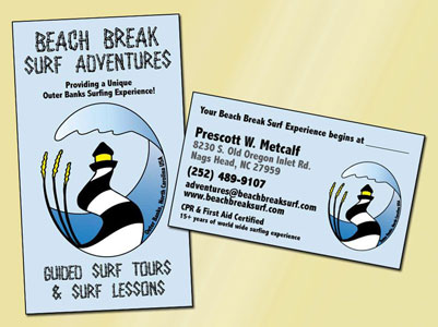 Beach Break Surf Adventures Business Card