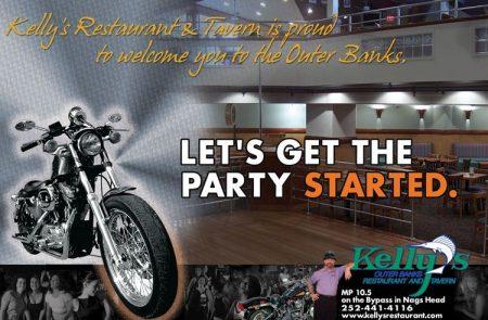 Kelly's Restaurant and Tavern – Bike Week Ad