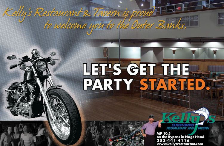 Kelly's Restaurant and Tavern – Bike Week Ad