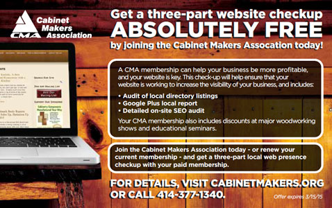 Cabinet Makers Association FDMC Magazine Ad