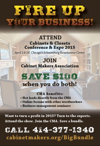 Cabinet Makers Association Woodworkers Network Magazine Ad