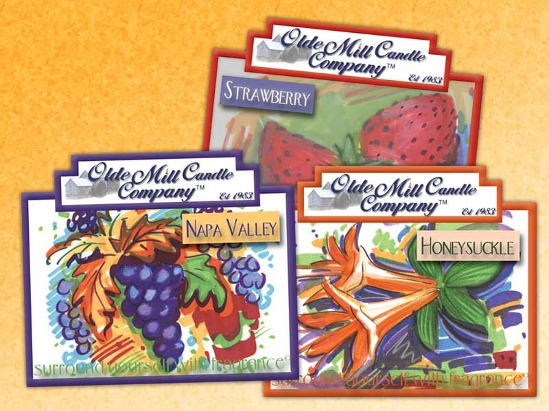 Olde Mill Candle Company Labels