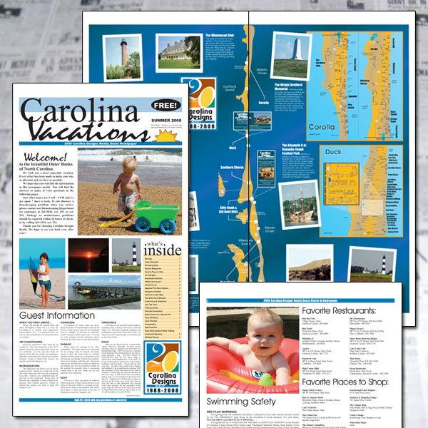 Carolina Designs Welcome Newspaper