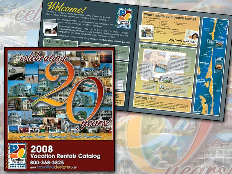 20 yr Anniversary logo on Rental Catalog