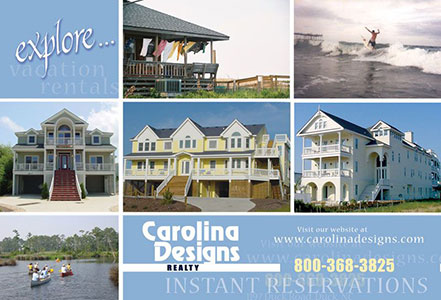 Carolina Designs General Info Postcard