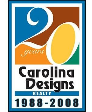 Carolina Designs Realty 20 yr Anniversary Logo