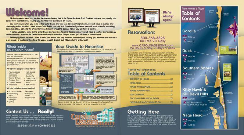 Carolina Designs 2009 Vacation Rental Catalog | Bold Print ...