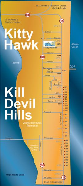 Kill Devil Hills Rental Catalog Map