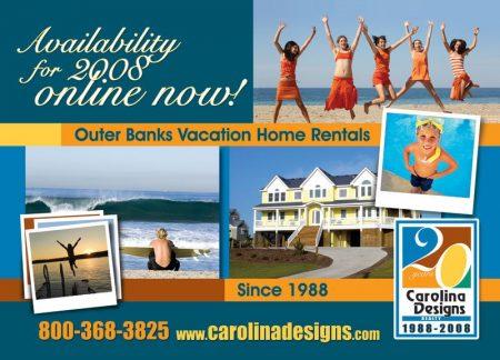 Carolina Designs 2008 Rentals Postcard