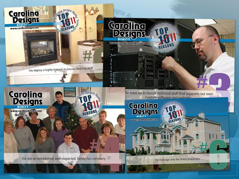 Carolina Designs Top 11 Postcard Campaign