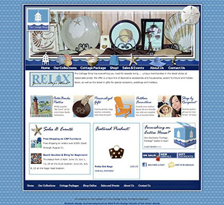 Cottage shop homepage