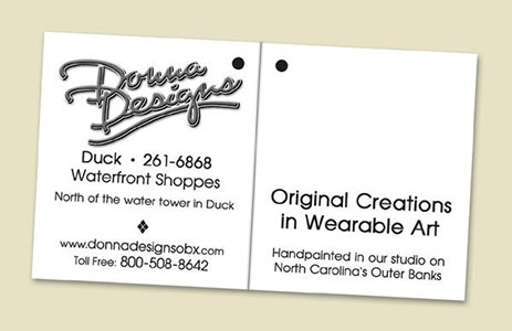 Donna Designs Apparel Hang Tag