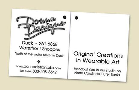 Donna Designs Apparel Hang Tag