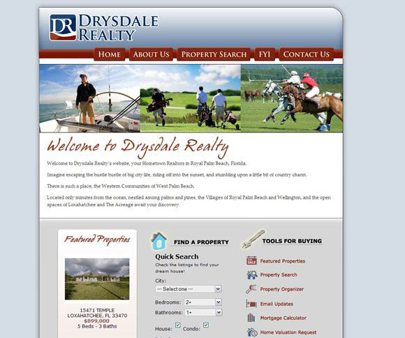 Drysdale Realty MLS Real Estate Website