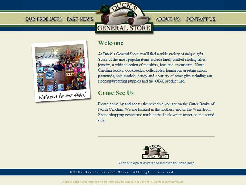 Duck General Store Website