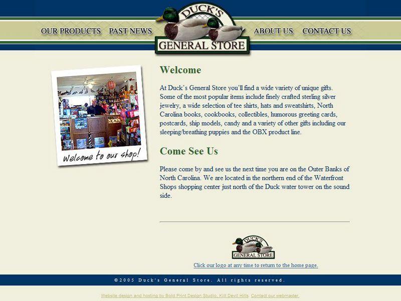 Duck General Store Website