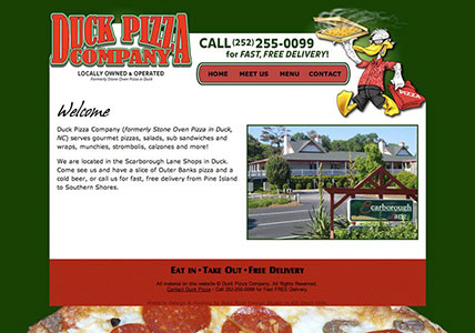 Duck Pizza Website
