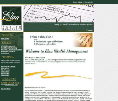 Élan Wealth Management Professional Website