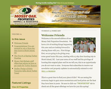 Mossy Oak Email Newsletter