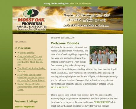 Mossy Oak Properties Harrell & Associates Email Newsletter