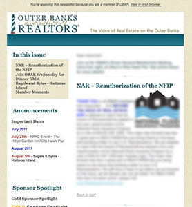 Outer Banks Association of REALTORS® E-newsletter