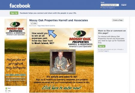Mossy Oak Properties Harrell & Associates Facebook Marketing Campaign