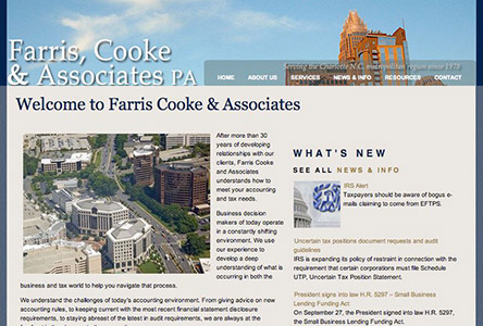 Farris, Cooke & Associates PA Website