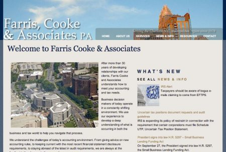 Farris, Cooke & Associates Professional Website
