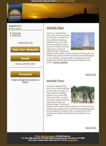 First Flight Foundation E-newsletter