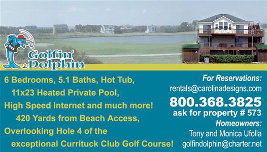 Golfin' Dolphin Business Card
