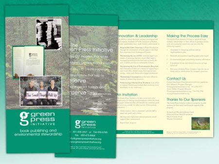 Green Press Initiative Trifold Brochure