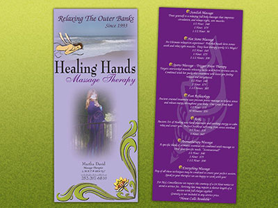Healing Hands Rack Card
