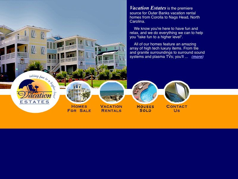 Outer Banks Vacation Estates Website