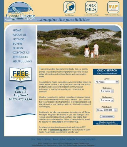 Coastal Living Realty MLS Real Estate Website