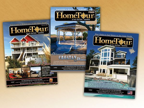 Home Tour of the Outer Banks Magazine Covers and Ads