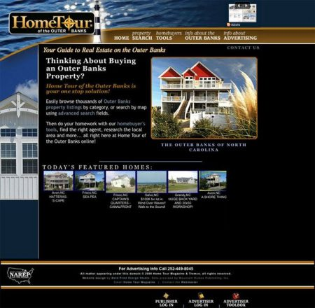Home Tour of the Outer Banks Website
