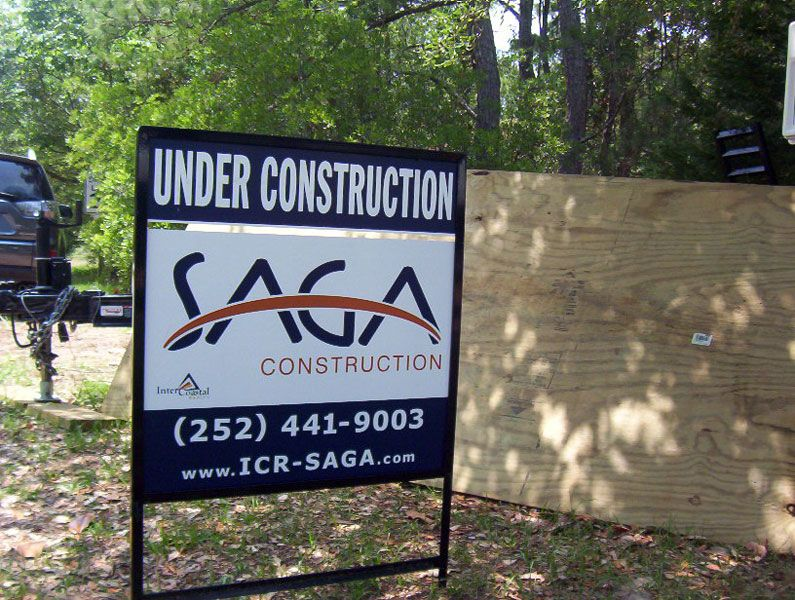 Intercoastal Realty & SAGA Construction Signs