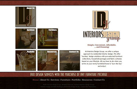 Interiors Design Group Website