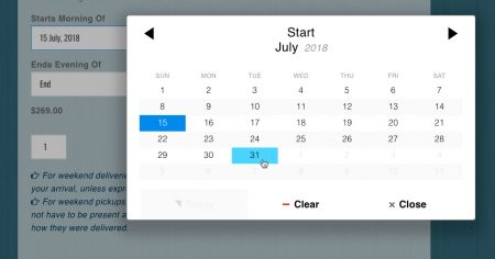 Equipment Rental Reservations Calendar