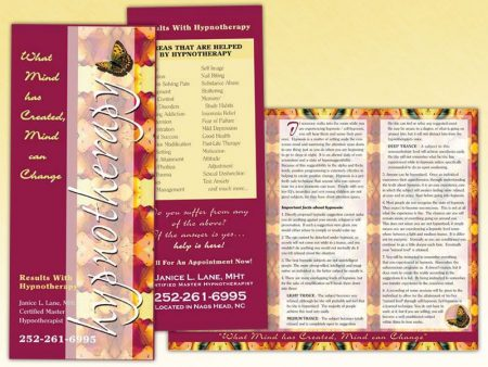 Janice Lane Hypnotherapy Trifold