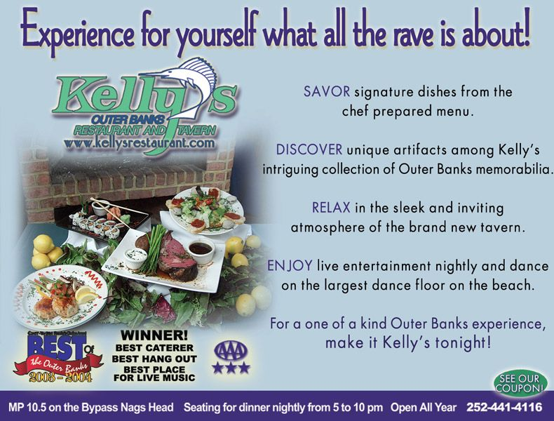 Kelly's Restaurant and Tavern Sunny Day Guide Ad